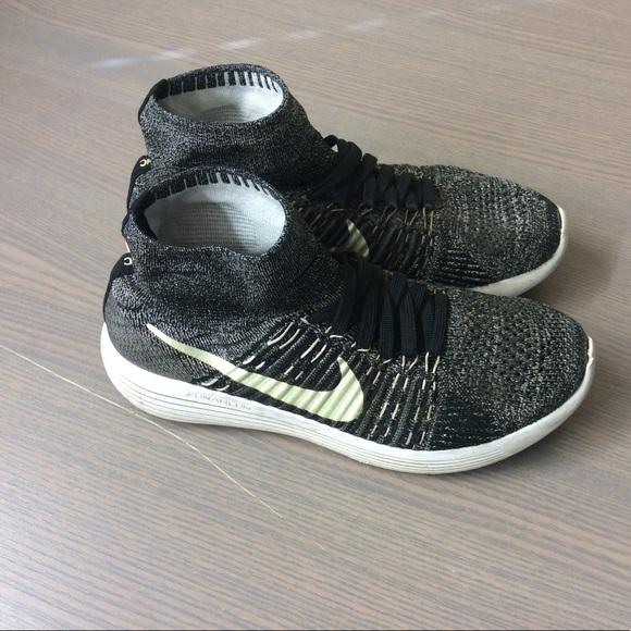 5f06554e16c3ac Nike Flyknit Lunarepic BHM size 8.5 running shoes.  M 5bfb66590cb5aadb440a5283
